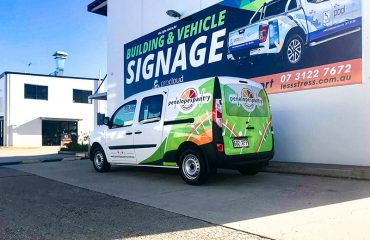 Partial Wrap Vehicle Signage