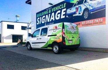 Partial Wrap Vehicle Signage