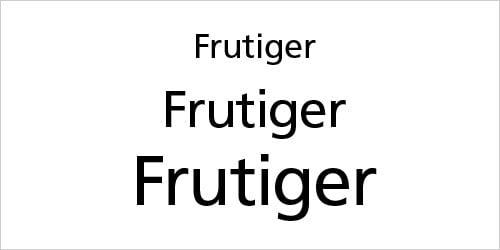 Frutiger Script for Professional Graphic Design